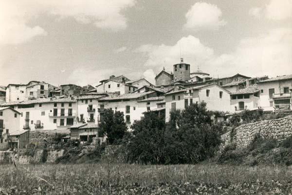 fotos antiguas, Beceite, Beseit, blanco y negro, b&n, blanco, negro, sepia, vista del pueblo