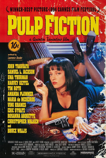 Poster Of Pulp Fiction 1994 720p English BRRip Full Movie Download