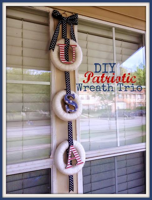 DIY Patriotic Wreath Trio #patriotic #4thofJuly #memorialday #redwhiteblue