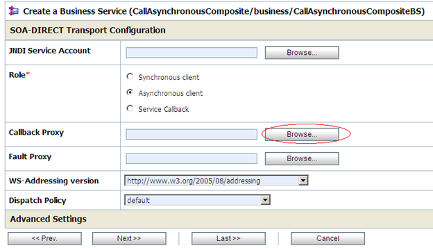 choose call back proxy