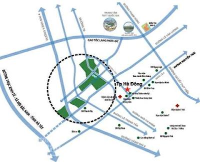 Vị trí khu đô thị Dương Nội
