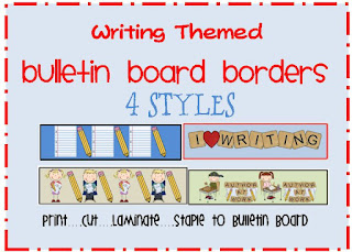 writing themed bulletin board border