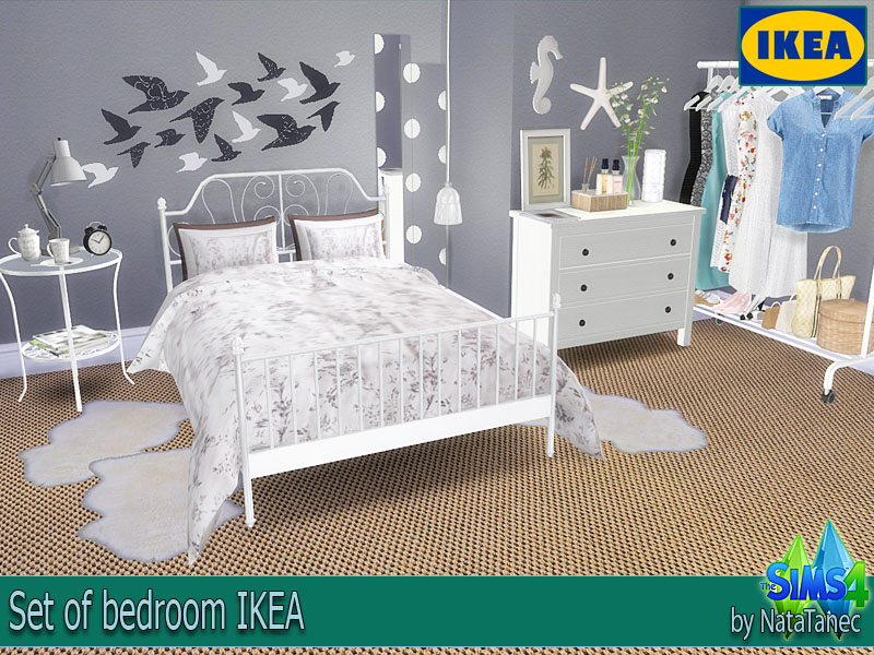 Corporation simsstroy the sims 4 set of bedroom ikea for Mods sims 4 muebles