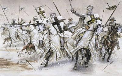 Knight of Teutonic sapukan salib elit