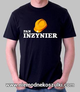 prezent na obronę inżynierską koszulka pan inżynier
