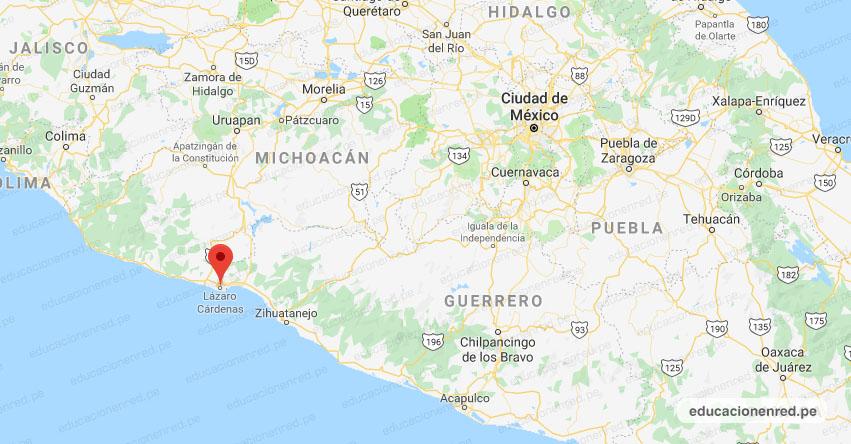 Temblor en México de Magnitud 4.0 (Hoy Martes 21 Abril 2020) Sismo - Epicentro - Lázaro Cárdenas - Michoacán de Ocampo - MICH. - SSN - www.ssn.unam.mx