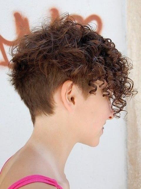 cortes de pelo corto rizados 2017
