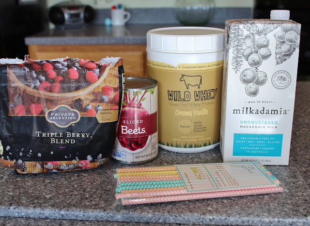 Very Berry Beet Protein Power Smoothie - Ingredients