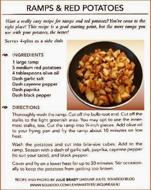 ramp and red potatoes recipe by jaguarjulie