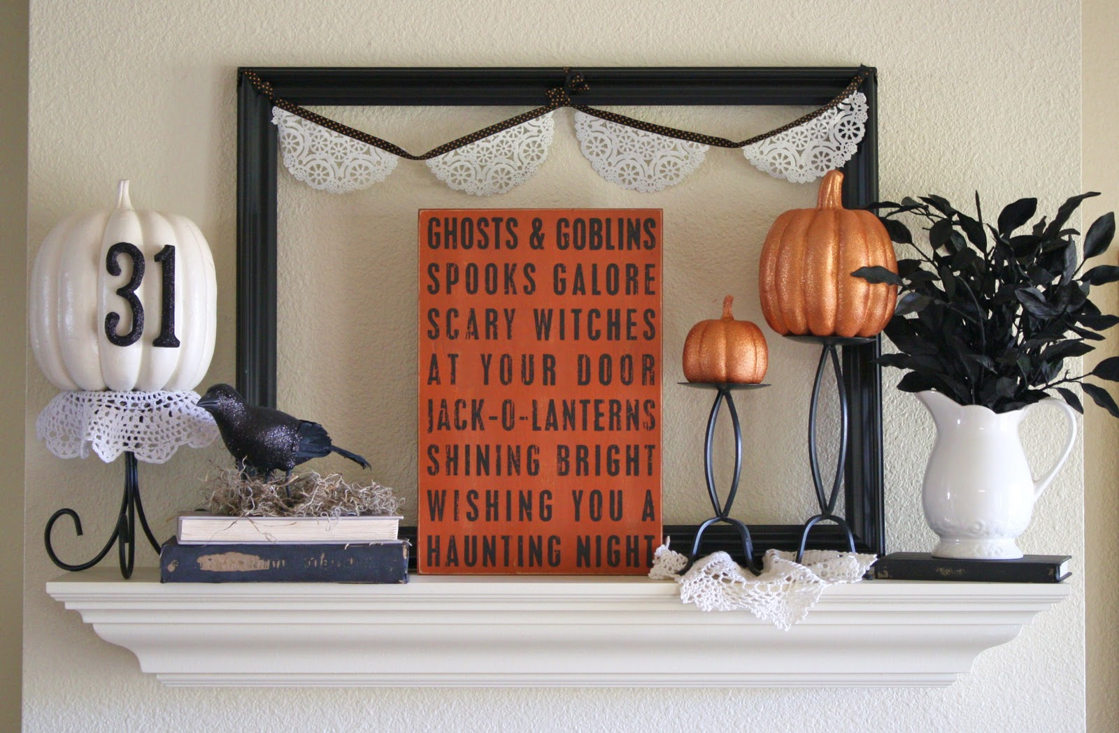 the adventures of olive gallon fall fireplace mantels. Black Bedroom Furniture Sets. Home Design Ideas