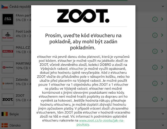 podmínky eVoucher Zoot ČR