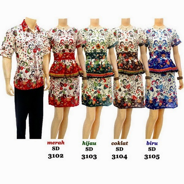 Model Baju Batik Sarimbit Dress Batik