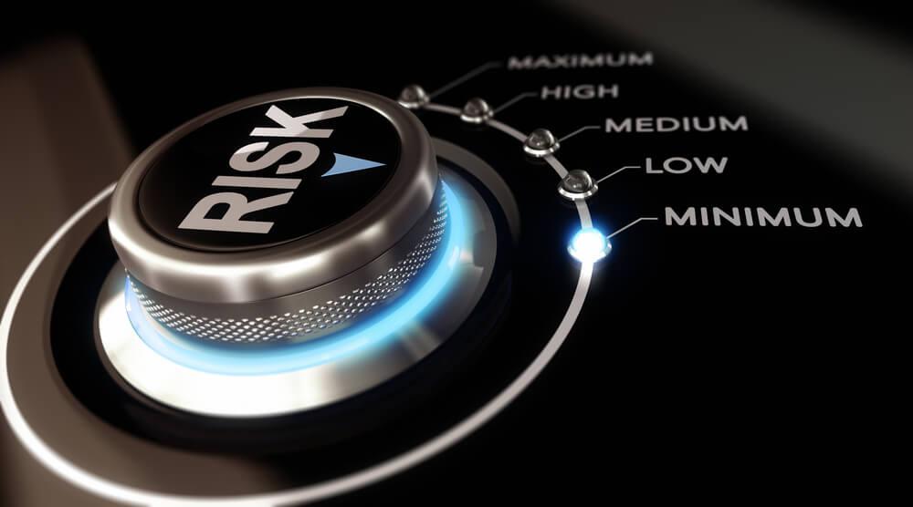 risk knob pointing to minimum