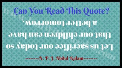 Backward upside reading challenge