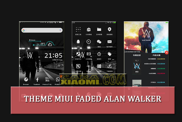 Theme MIUI Faded Alan Walker Mtz v1.0.0.2 For Xiaomi Latest