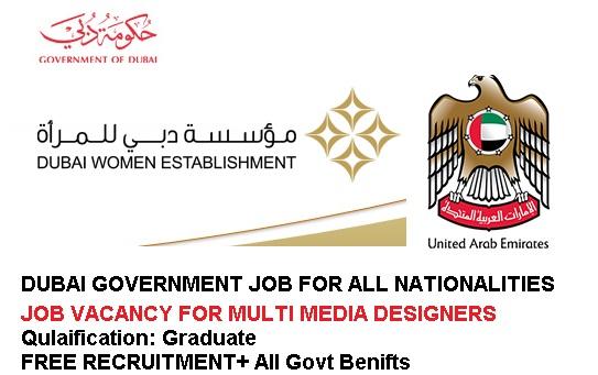 Government Jobs in Dubai for Graduates/Multimedia Designers 2017-18