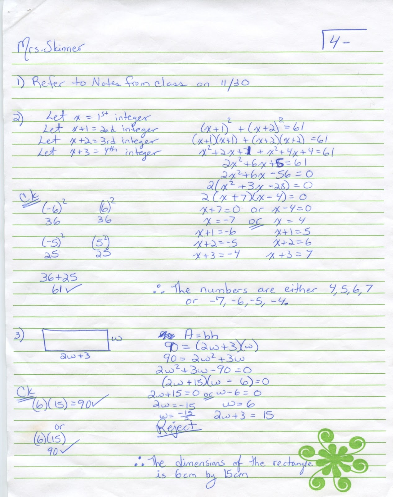 Iroquois Algebra Blog Unit 4 Word Problems Worksheet