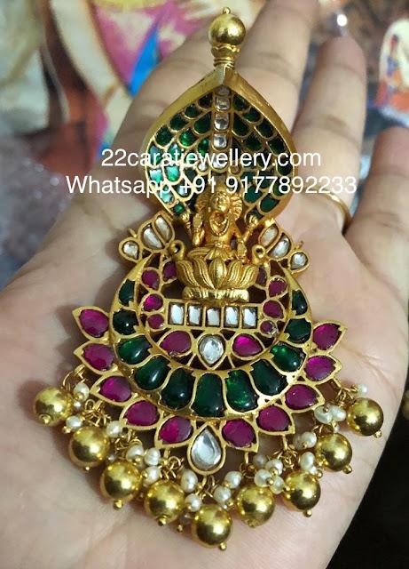 Lakshmi Naga Kundan Pendant in 925silver