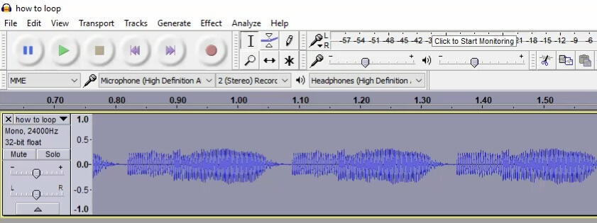 how to loop a sound