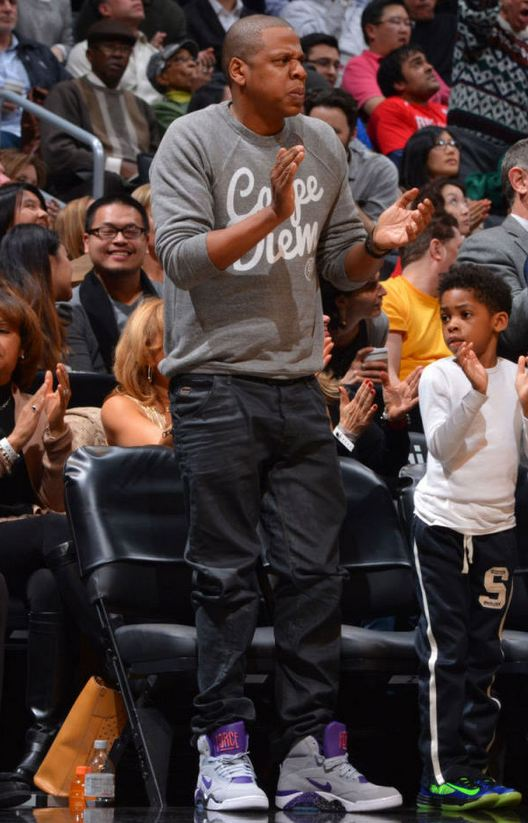 best service 4f153 c647b Jay-Z Rocking Nike Air Force 180 Mid Sneakers