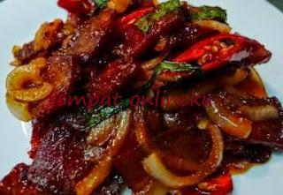 resep daging tumis bawang bombay