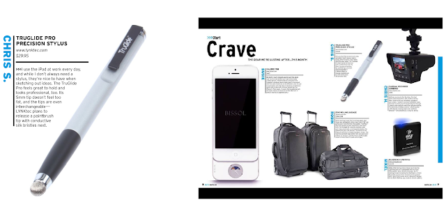 Crave section Mac Life features TruGlide Pro Stylus