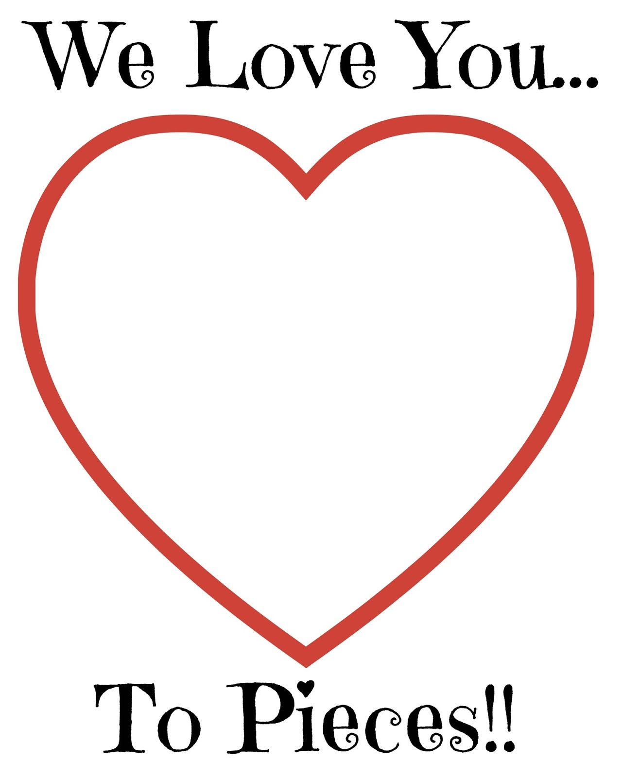 love you to pieces valentines day craft  free printable