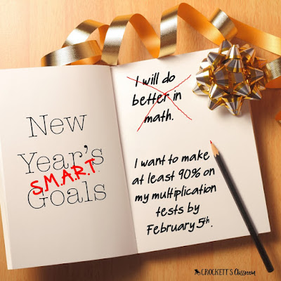 How do I get my students to set goals for the new year?  Help them write S.M.A.R.T. goals.