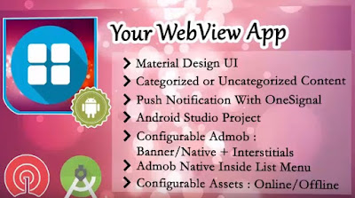 Kumpulan Source Code Project android studio Web View Apps ( Admob banner + instertial)