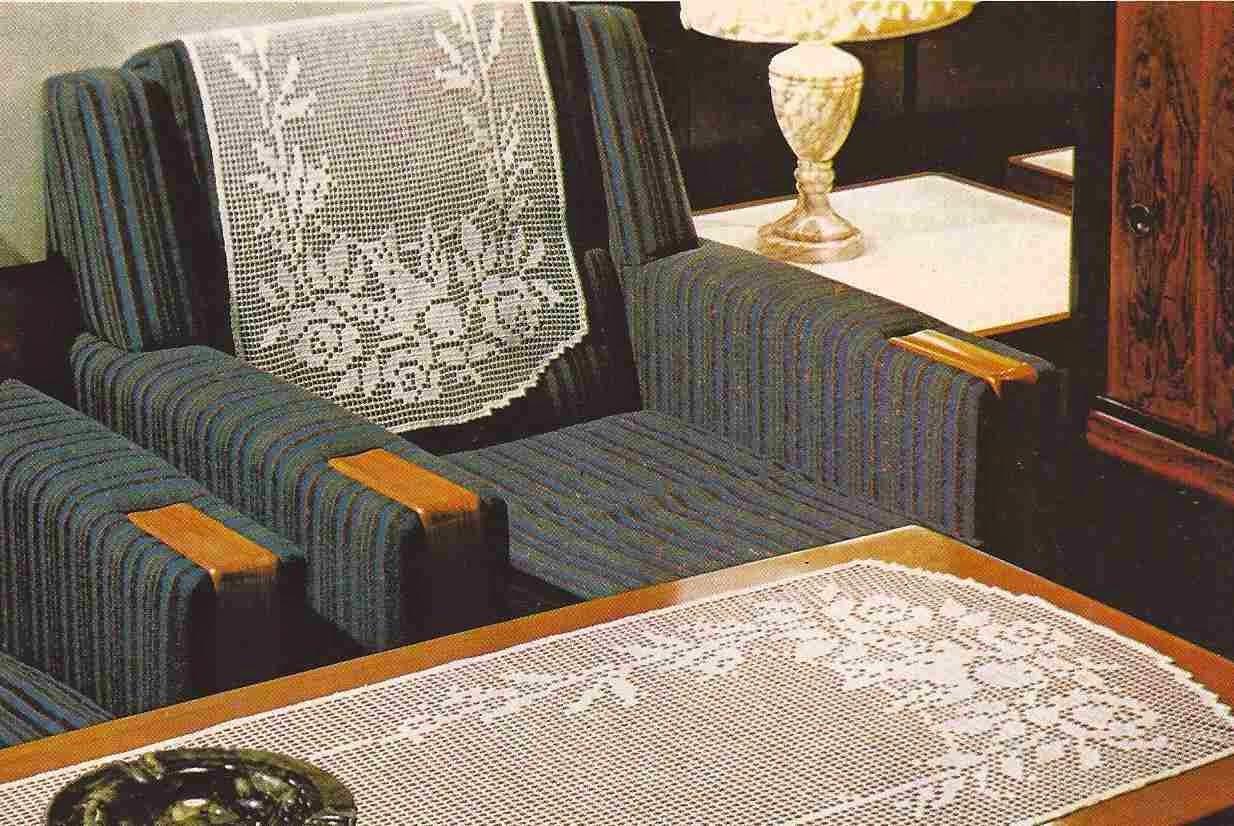 Tapete y Cubierta de Sillón a Crochet