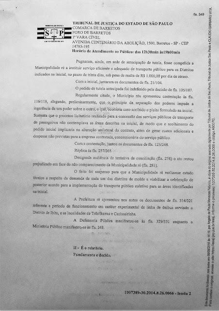 1007389-30.2014.8.26.0066 - Lauda 2 - Sentença Transportes Terrestres Zona Rural Barretos - Pag. 349