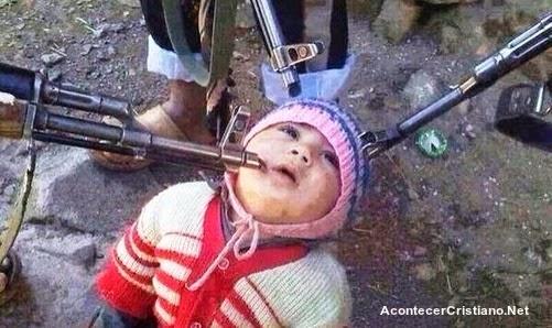 bebé cristiano secuestrado por rebeldes sirios