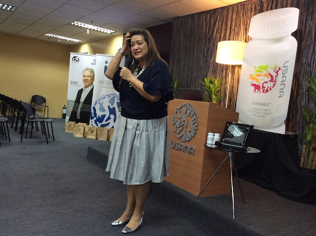 USANA Vice President for the Philippines and Indonesia Ms. Aurora 'Duday' Gaston