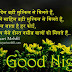 Hindi Good Night Wishes Status Shayari for Friends