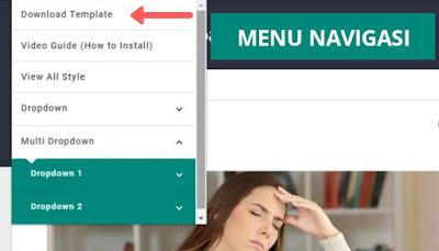 Cara mengubah dan mengganti menu navigasi blogger