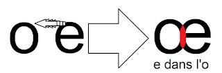 la lettre œ e dans l'o