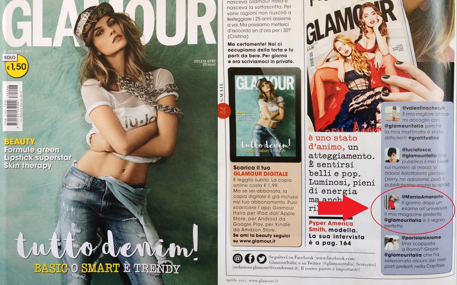 Press Glamour di Aprile 2017 (Italy) Marzia Amaranto
