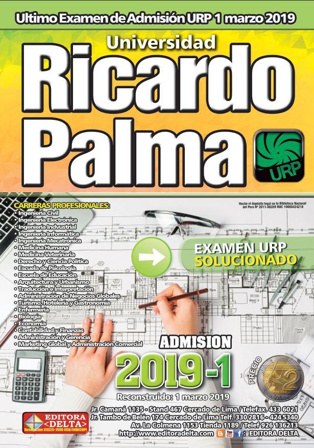 Examen U. Ricardo Palma 2019-1