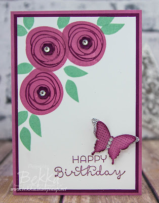Swirly Bird Butterfly Birthday Card  Get everything you need to make this card here