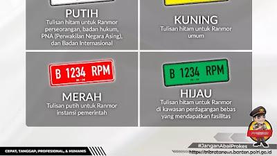 Yuk Kenali 4 Warna Baru Pada Plat Nomor Kendaraan