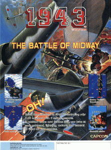 1943 the battle of midway+arcade+game+portable+retro+shootemup+art+flyer