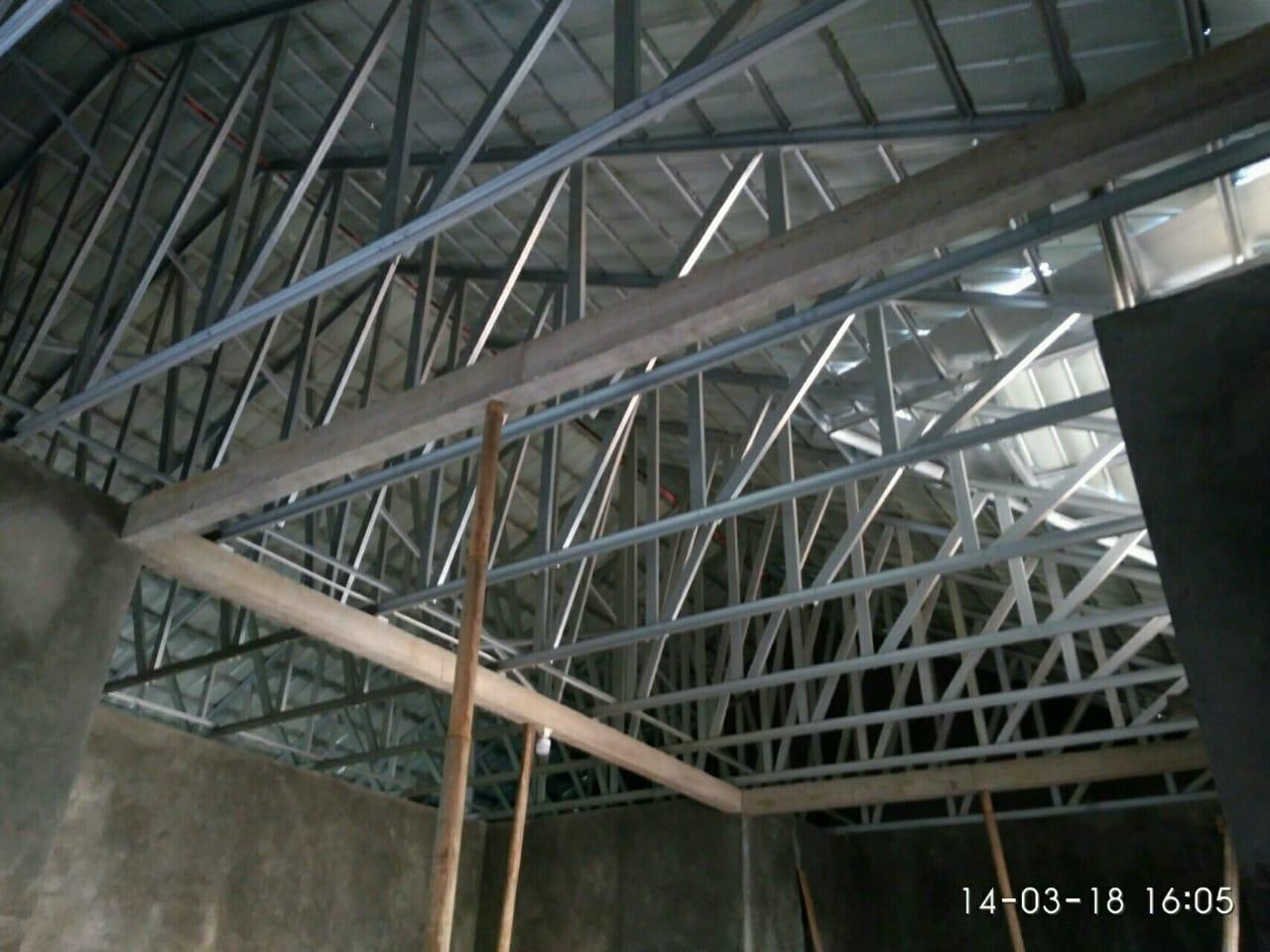 harga kanopi baja ringan per meter persegi dan rangka atap