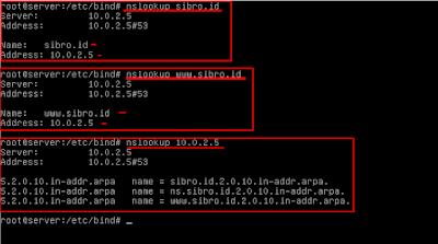 Cek domain dengan cara nslookup, jika muncul seperti gambar dibawah ini maka dns anda berhasil