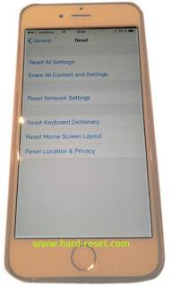 Cara Reset iPhone 6 Yang Rusak ke Pengaturan Pabrik