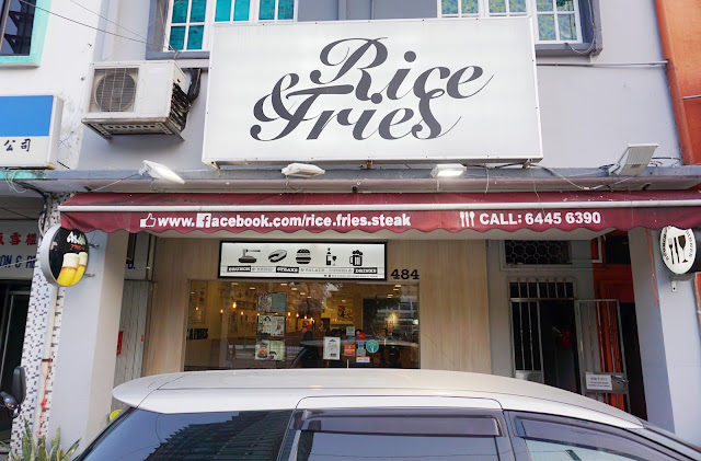 Singapore Cafe - Rice & Fries at Changi Road