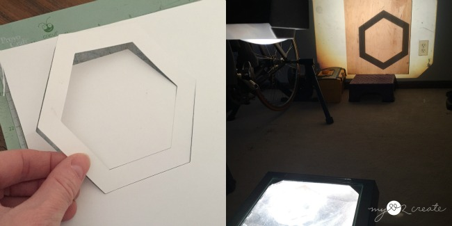 using a projector for cutting out a large image