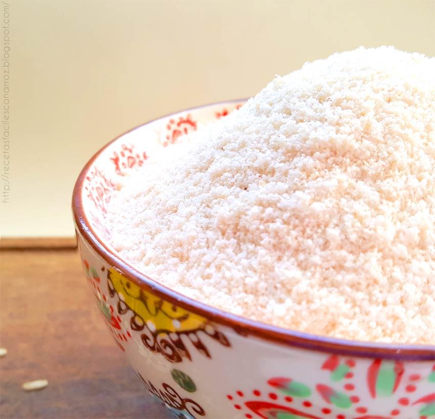 Como hacer harina de arroz casera en 5 minutos y sin for Formas de preparar arroz