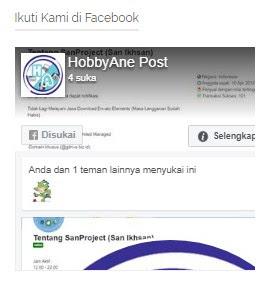Cara Memasang Widget Fanspage Facebook di Blogspot
