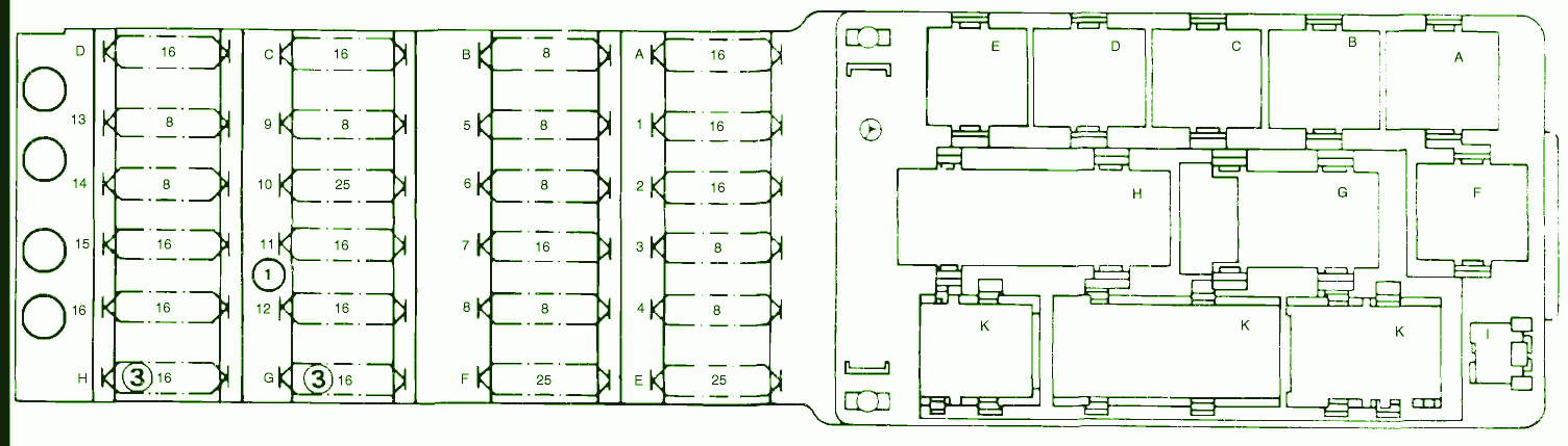fuse box diagram mercedes 230 fuel injection 2000. Black Bedroom Furniture Sets. Home Design Ideas