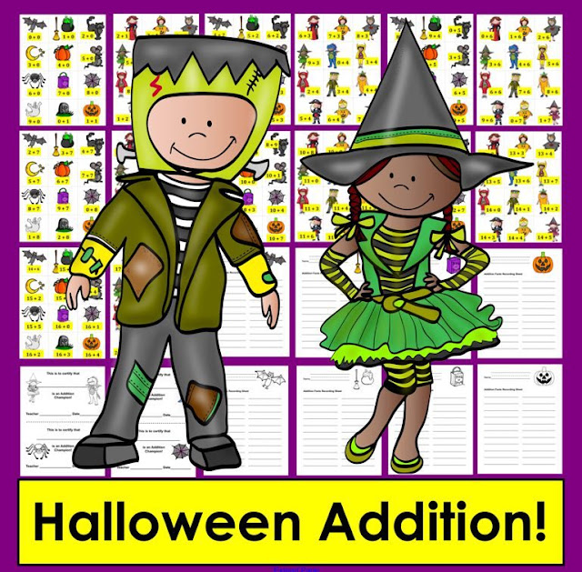 https://www.teacherspayteachers.com/Product/Halloween-Math-Addition-167-Addition-Facts-to-20-Differentiate-2171547